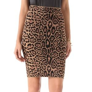 A knight length pencil skirt in a leopard print